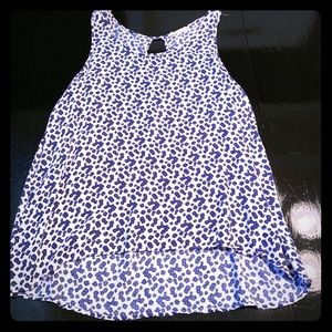 Blue and White Tank Top